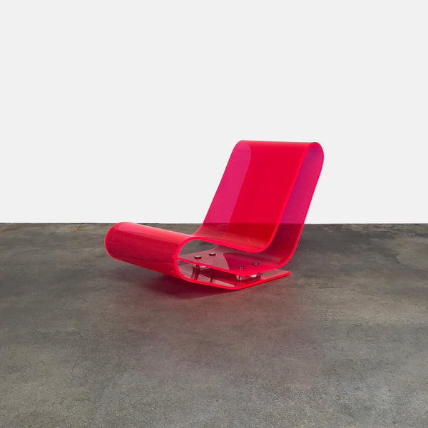 Kartell Pink Plastic LCP Lounge Chair by Maarten van Severen