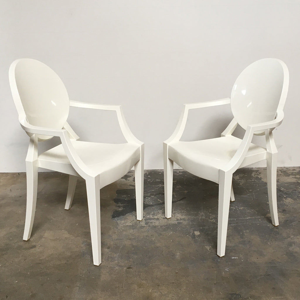 ... Kartell White Louis Ghost Chair By Philippe Starck | Los Angeles ...
