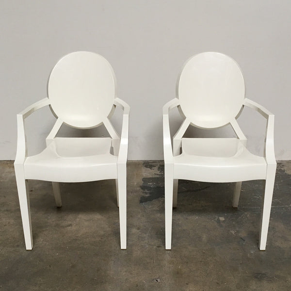 Kartell White Louis Ghost Chair by Philippe Starck | Los Angeles