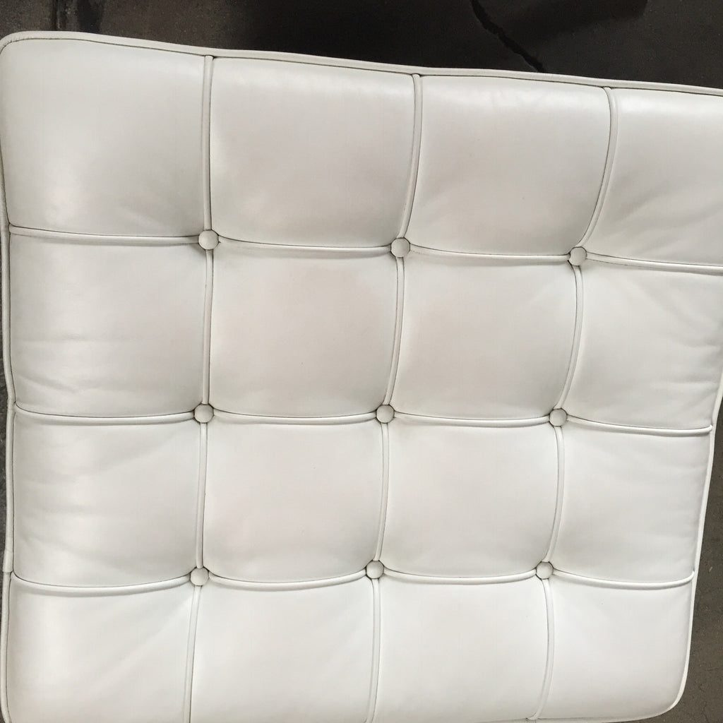 Tremendous Knoll White Barcelona Chair And Ottoman Los Angeles Caraccident5 Cool Chair Designs And Ideas Caraccident5Info