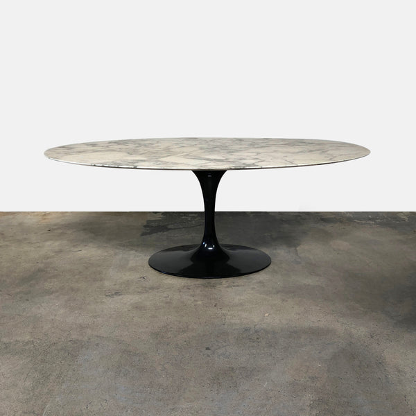 Knoll Eero Saarinen White Marble Oval Dining Table
