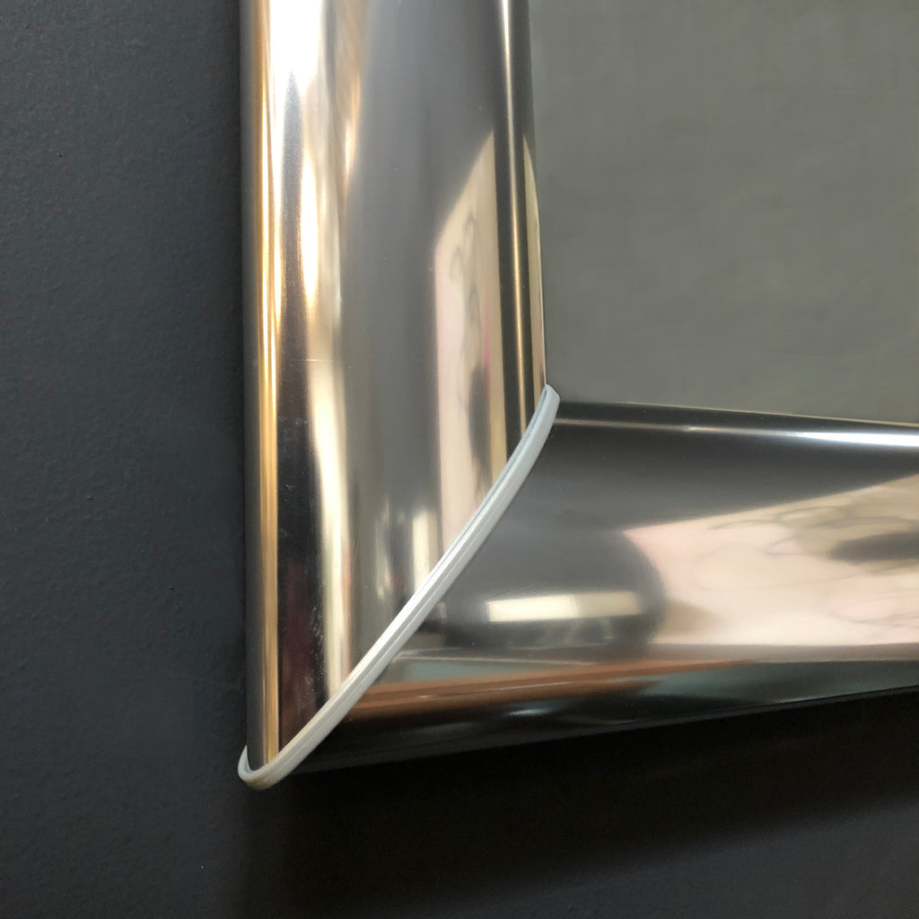 "Kristalia Polished Aluminum Framed ""Mad"" Mirror"