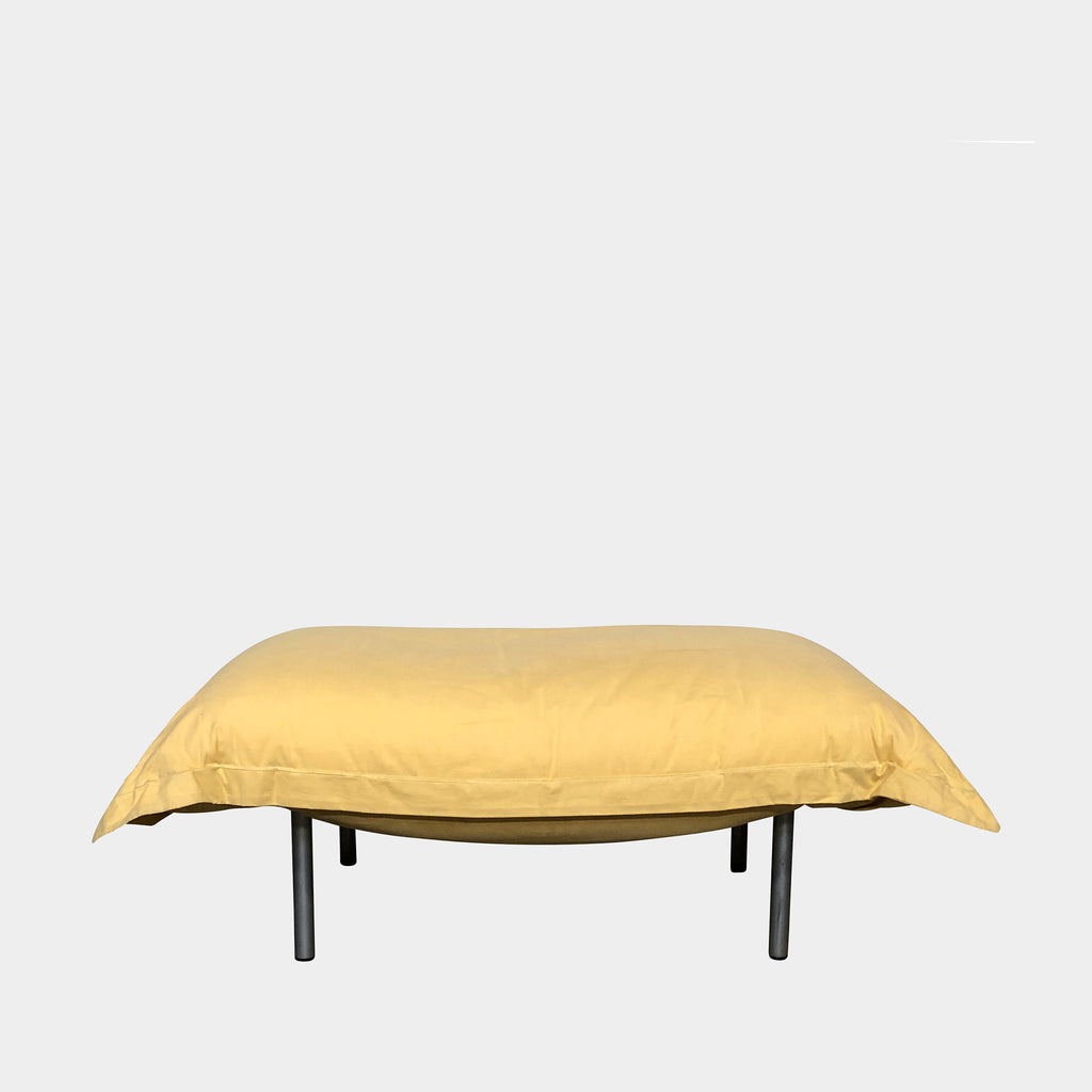 Modern Resale Yellow Ligne Roset 'Calin' Medium Ottoman | Los Angeles | Consignment