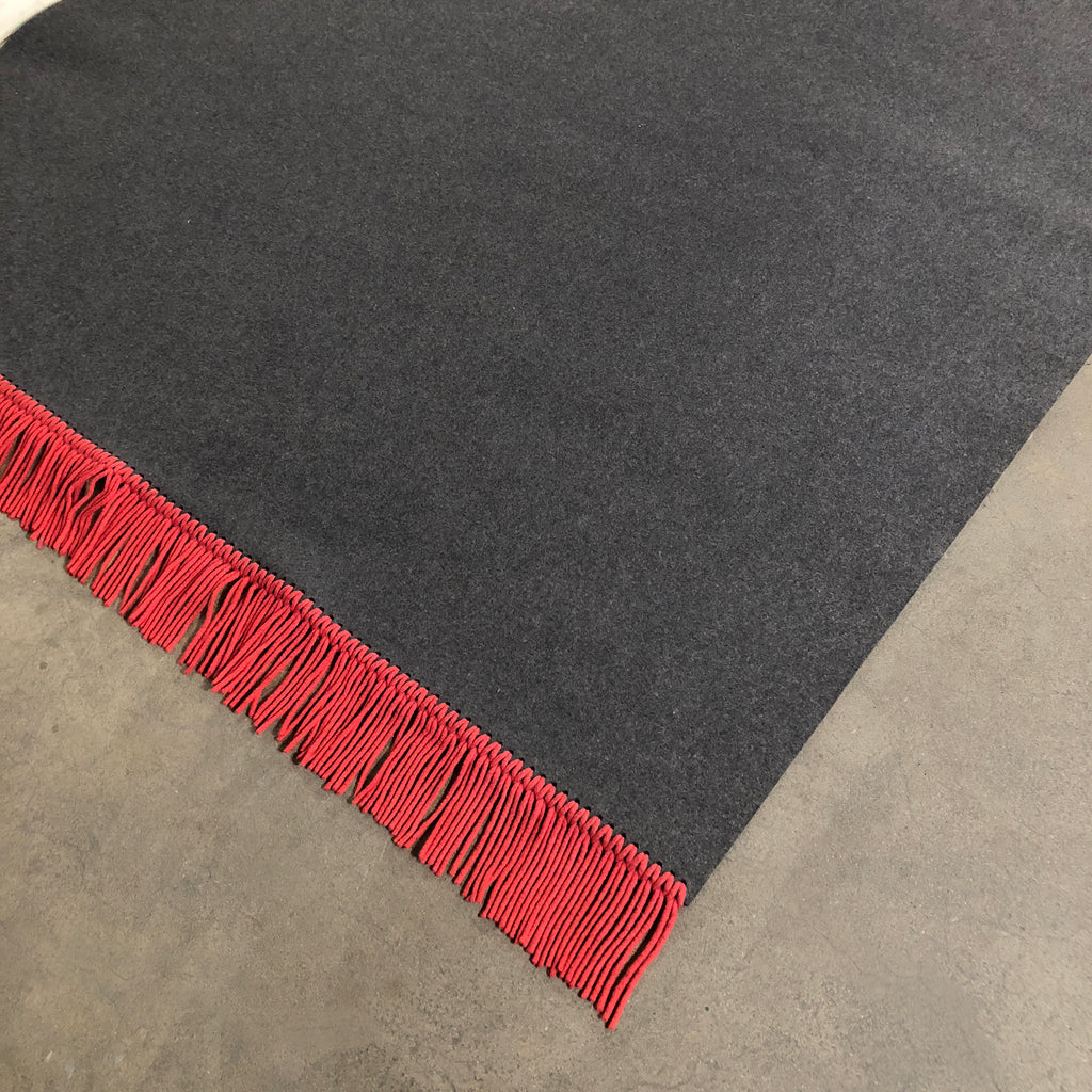 Ligne Roset 'Felt and Color' Red and Grey Rug