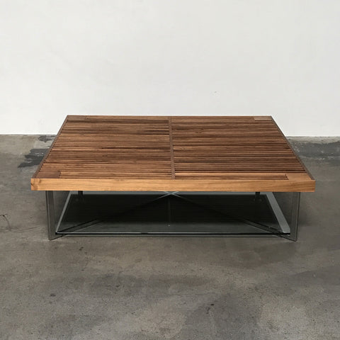 Ligne Roset Walnut Ponton Low Coffee Table | Los Angeles | Consignment
