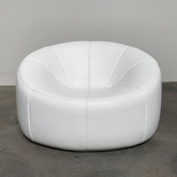 Ligne Roset Pumpkin Armchair White Leather | Los Angeles | Consignment