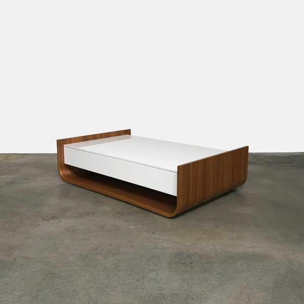 Ligne Roset White Lacquer Stem Coffee Table by Eric Jourdan
