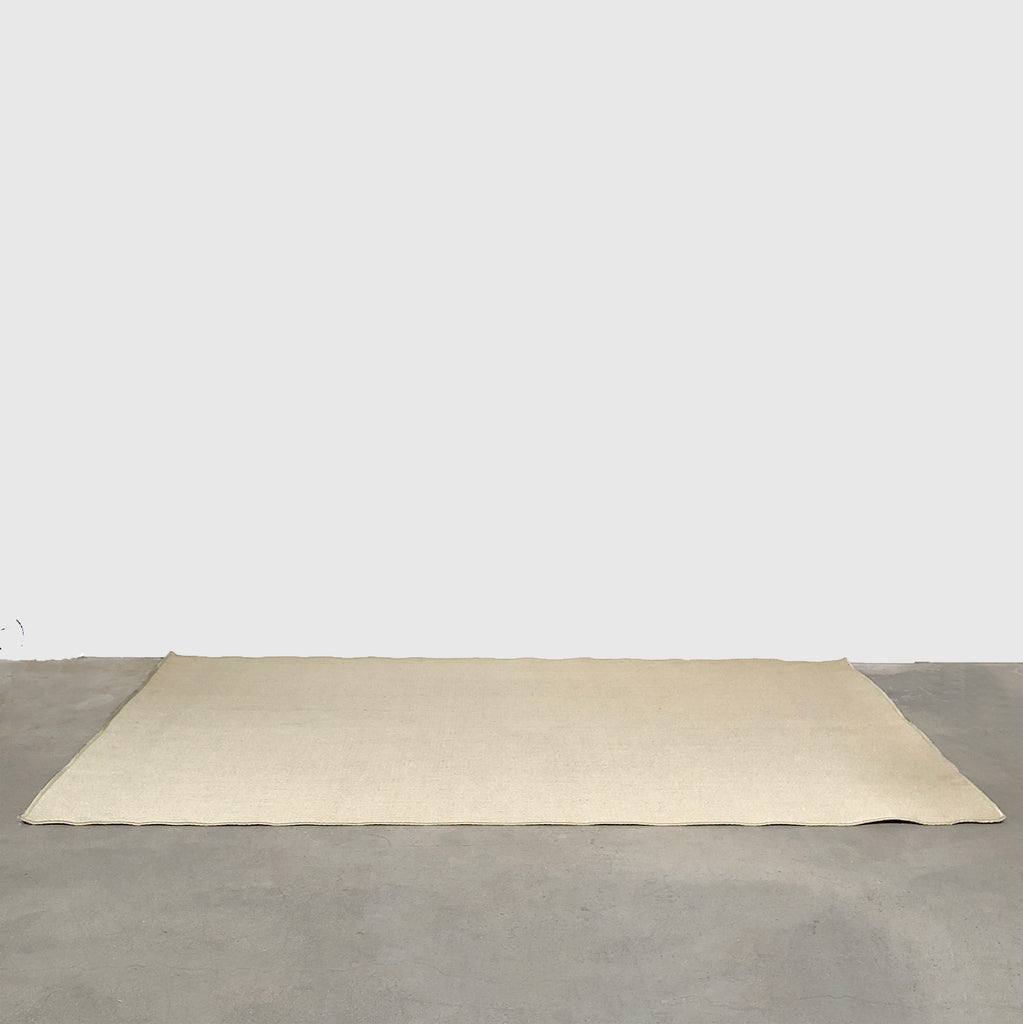 Cream Scalloped Jute Rug