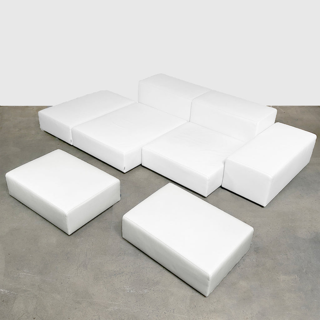 Living Divani Extra Wall.Living Divani Extra Wall 8 White Leather Sofa Modern Resale