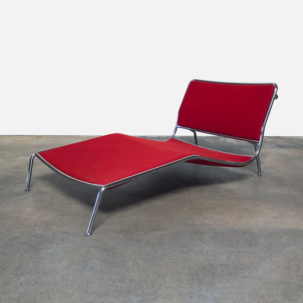 Living Divani Red Felt Frog Chaise Lounge Chair by Piero Lissoni ...
