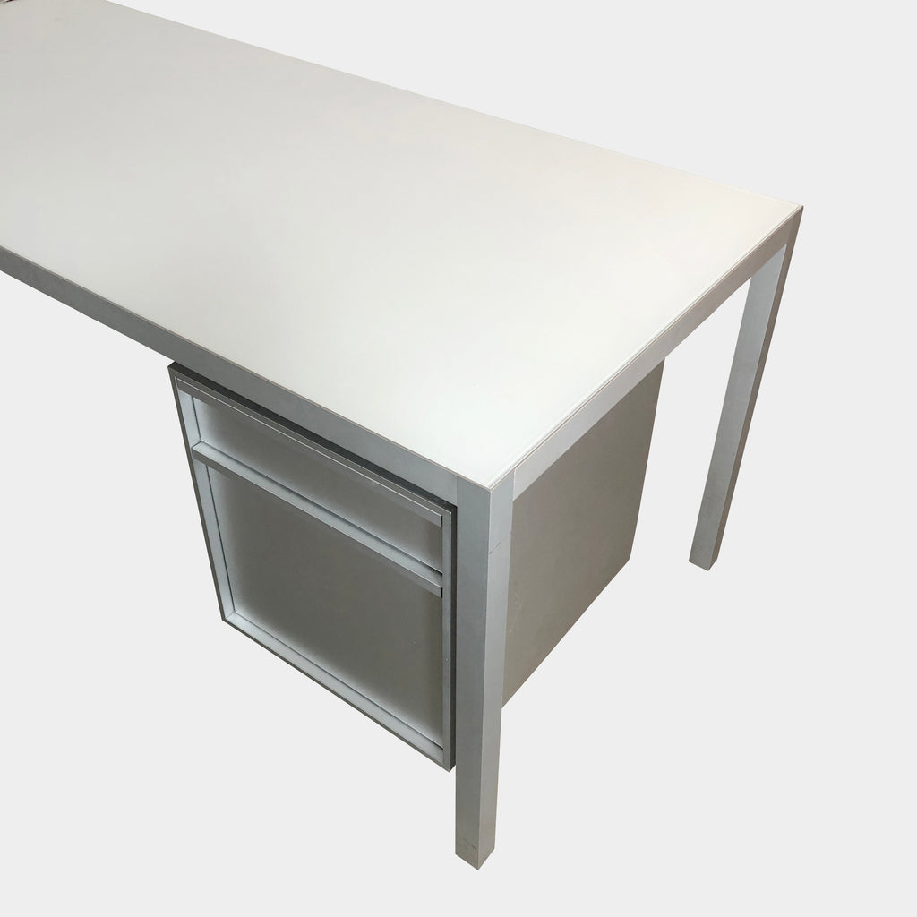"Keramik Executive Desk 86.5"", Desk - Modern Resale"