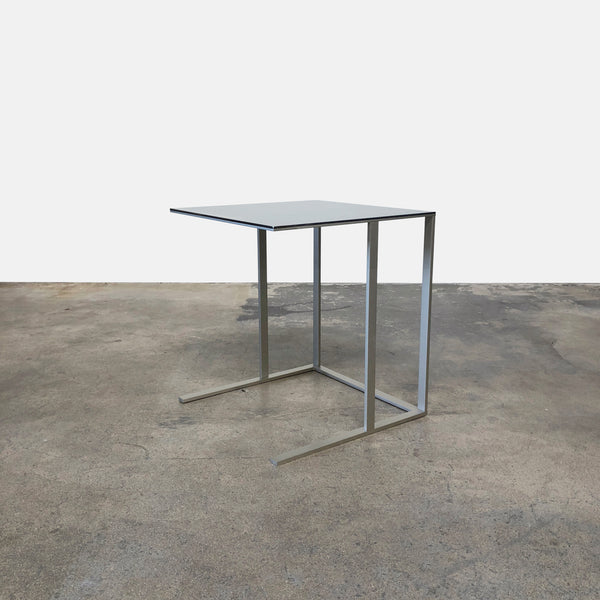 Maxalto Elios Side Table Nickel Base Reflective Metal Top