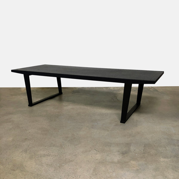 Maxalto Black Oak Lucullo Dining Table by Antonio Citterio