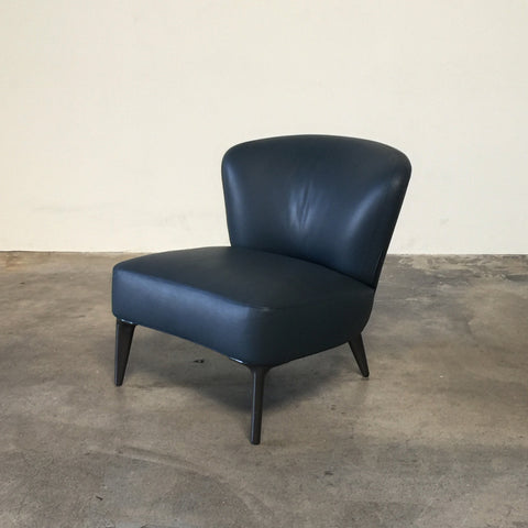 Minotti-Dark-Blue-Leather-Aston-Chair