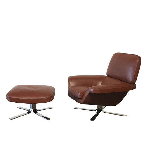 Blake Soft Swivel Chair & Ottoman