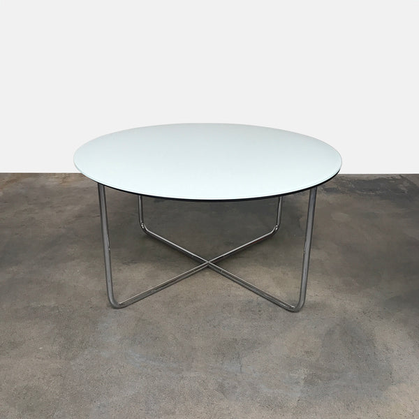 Minotti Louis White Glass Dining Table by Rodolfo Dordoni