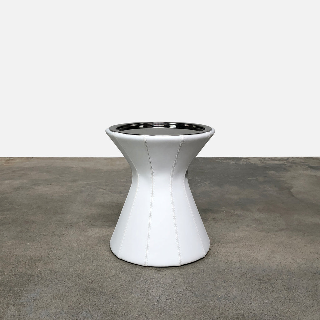 Buddy Leather Side Table, Side Table - Modern Resale