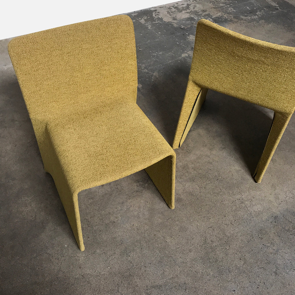 Molteni & Co Mustard Fabric Glove Dining Chair  by Patricia Urquiola