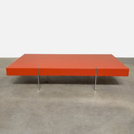 Orange Lacquer Coffee Table