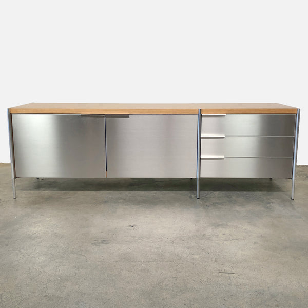 Pallucco Italia Light Oak / Stainless Steel Stilo Sideboard