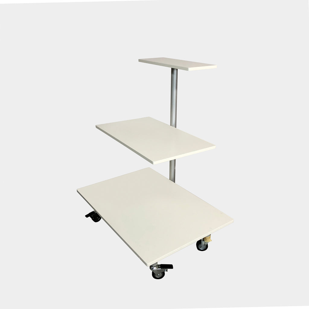Pallucco Italia White Terrazze Three Tier Trolley
