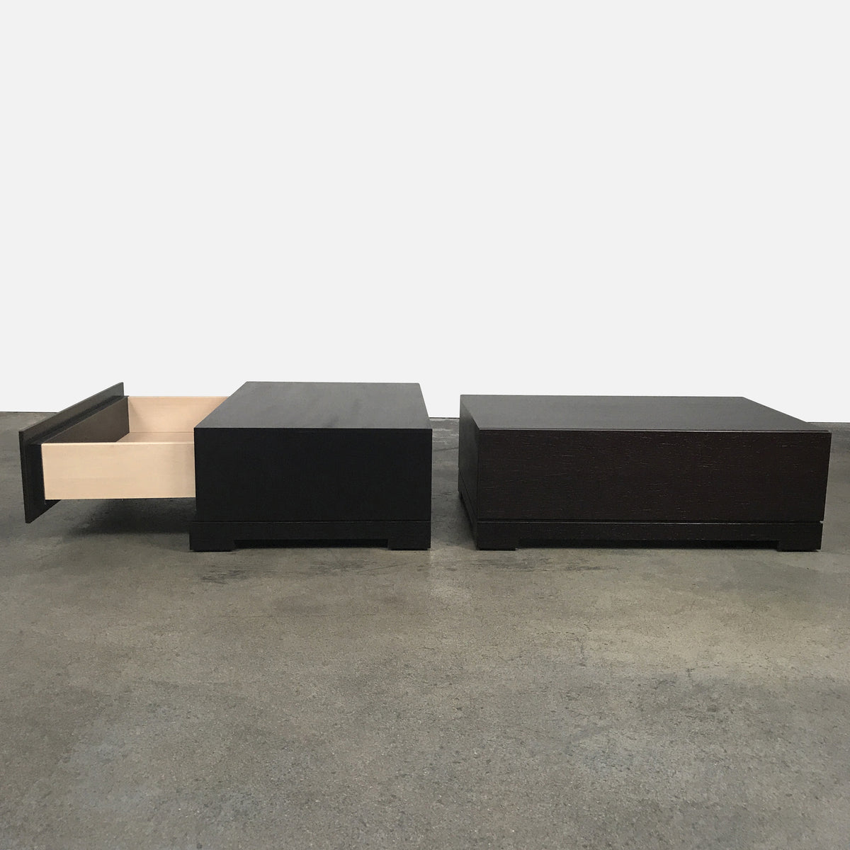 Poliform Dark Brown Tobia Nightstand by Carlo Colombo | LA
