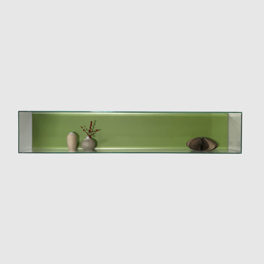 Porro 'Origamibook' Green Wall Shelf by Piero Lissoni