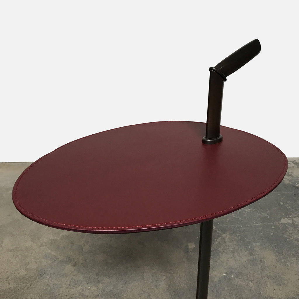 Bip Bip Leather & Bronze Side Table - ON HOLD, Side Table - Modern Resale