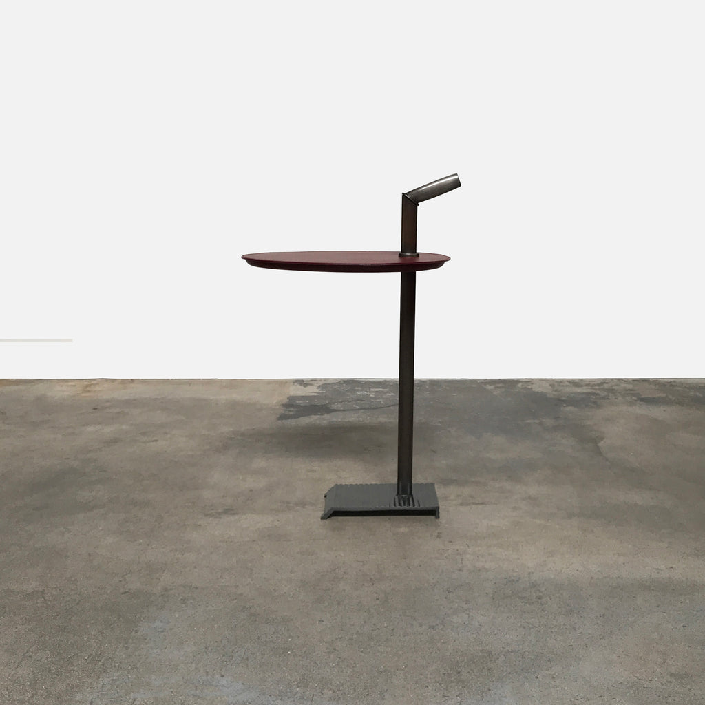 Bip Bip Leather & Bronze Side Table, Side Table - Modern Resale