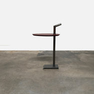 Promemoria Bip Bip Red Leather & Bronze Side Table