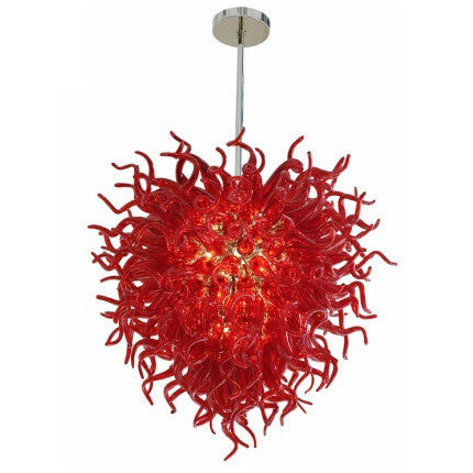 red_murano_glass_chandelier_consignment Murano Chandelier
