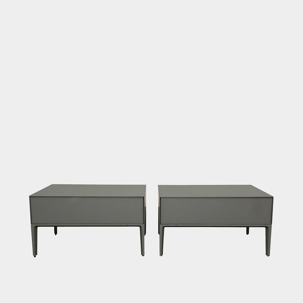 Gray Lacquer Nightstand (2 in stock), Nightstand - Modern Resale