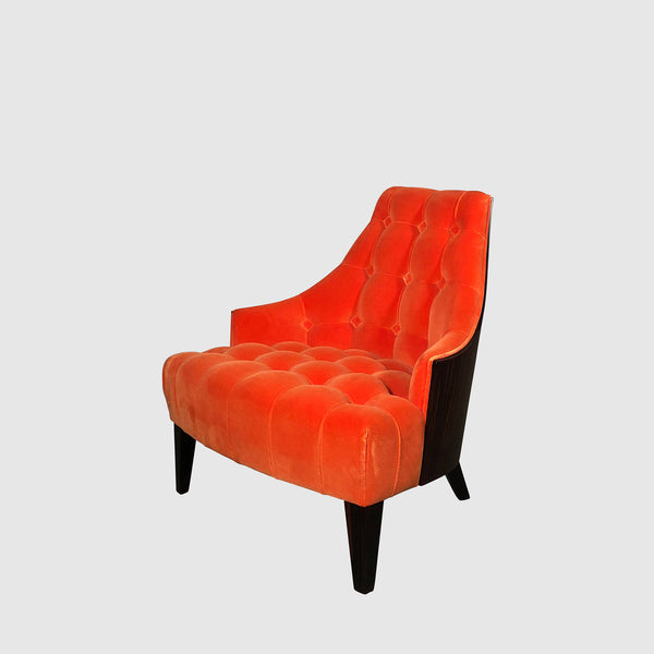 Sawaya & Moroni 'Eloise' Orange Velvet Lounge Chair
