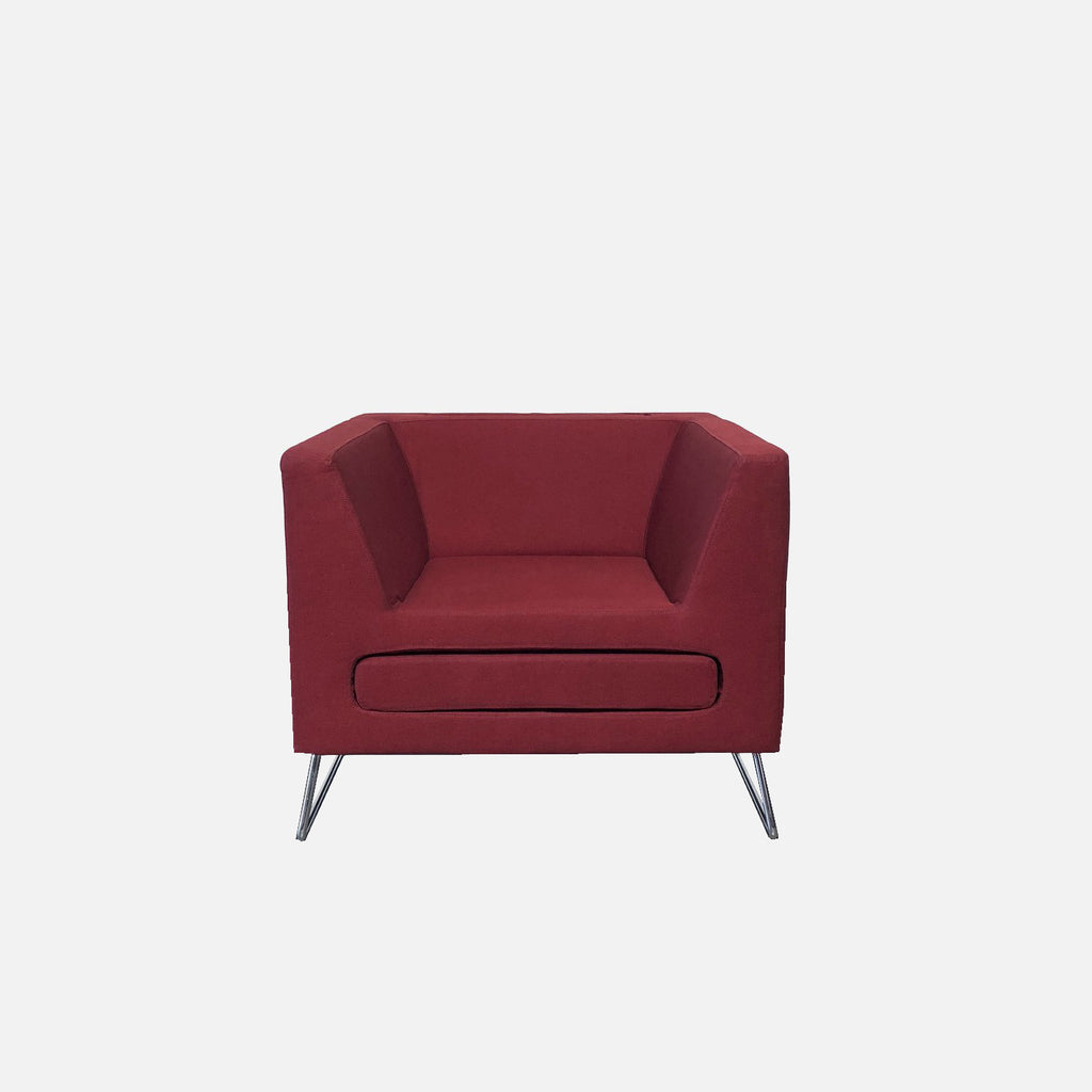 Red Lounge Chair, Lounge Chair - Modern Resale