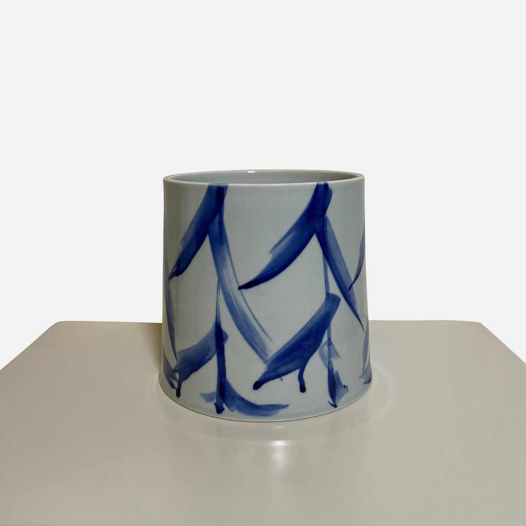 Something Blue Large Ceramic Vase by Agnes Fries in collaboration with Giada Yeya Montomoli.