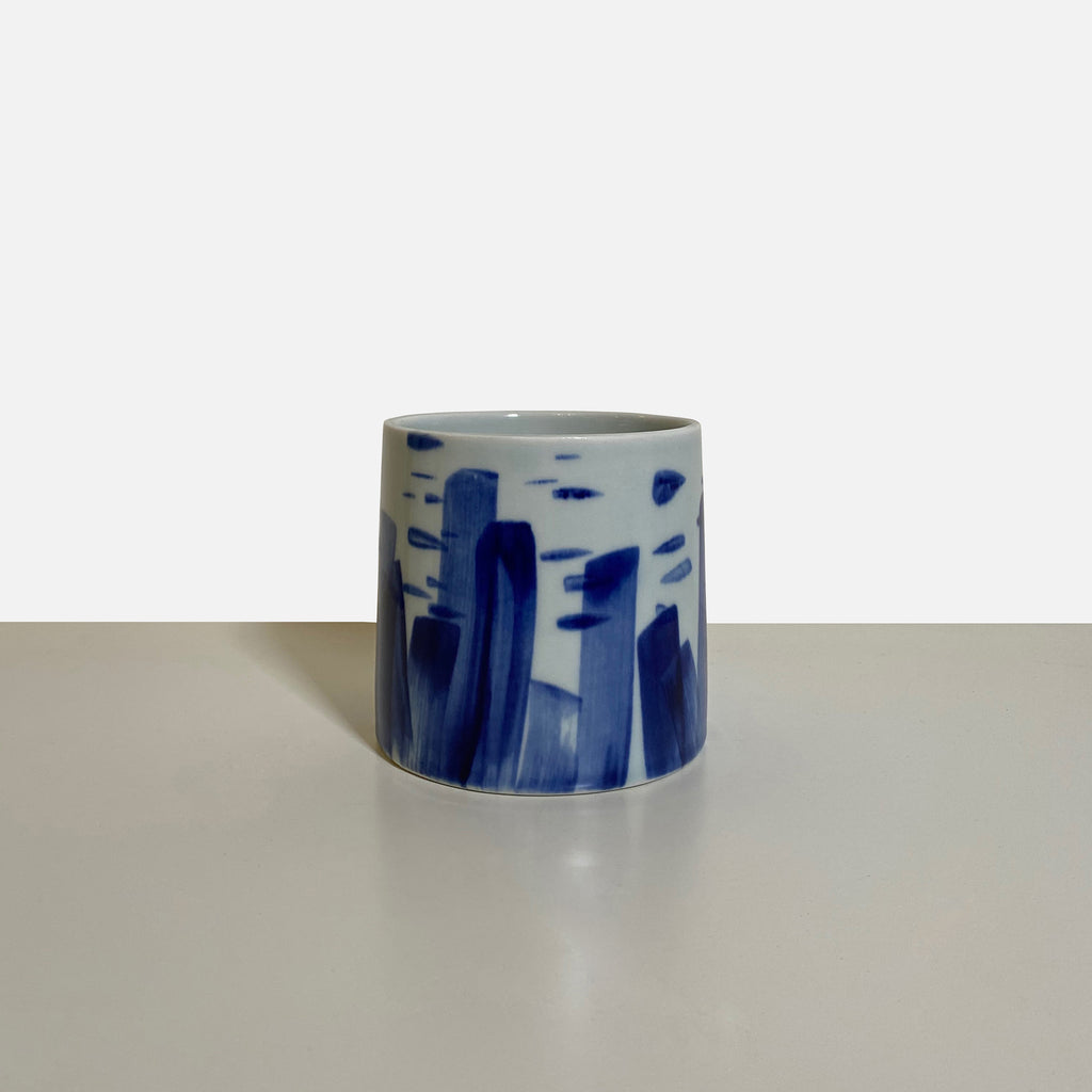 Something Blue Small Vase by Agnes Fries in collaboration with Giada Yeya Montomoli
