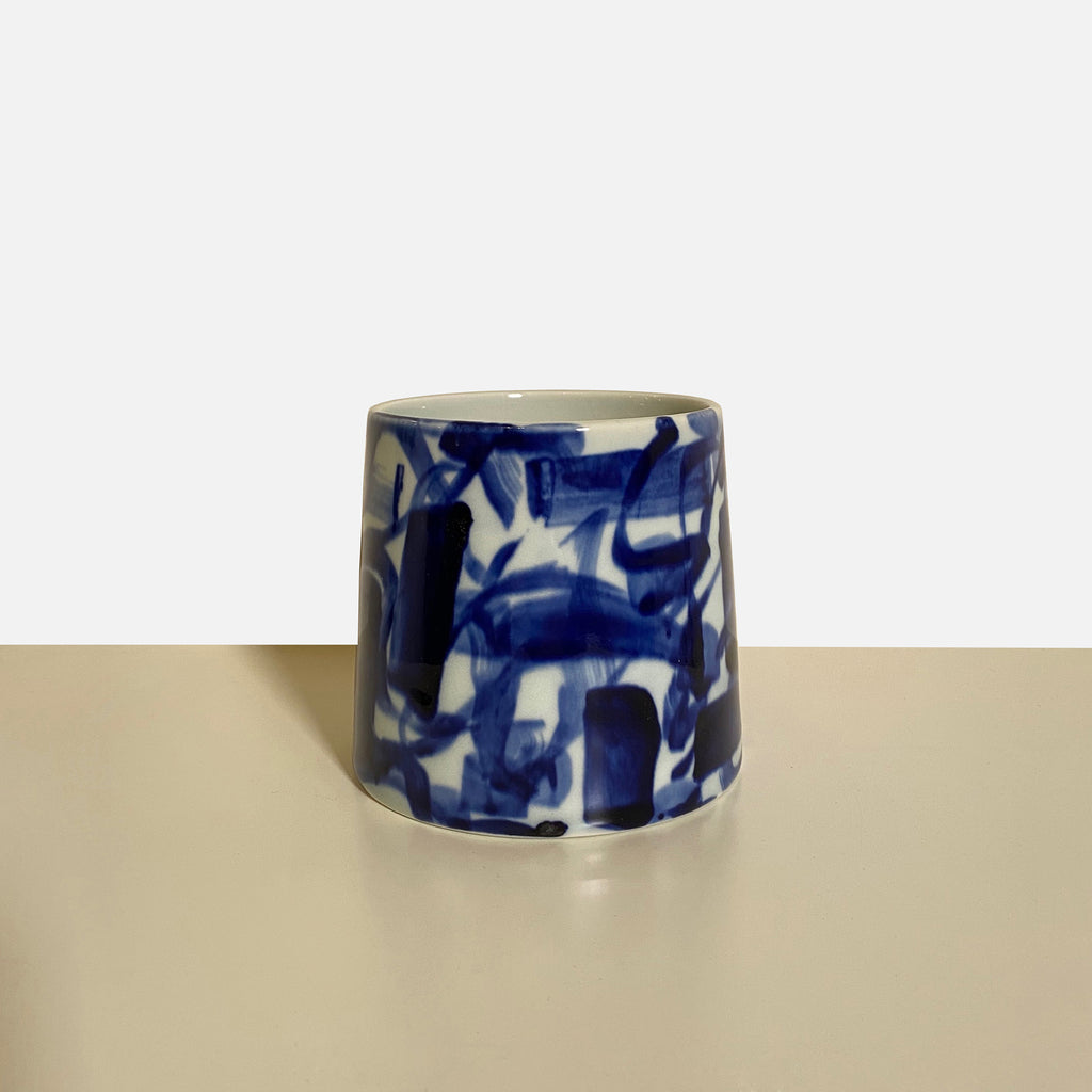 Something Blue Blue & White Ceramic Plate by Agnes Fries & Giada Montomoli