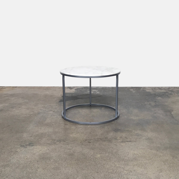 Thema Link Carrara Marble Side Table | LA | Consignment