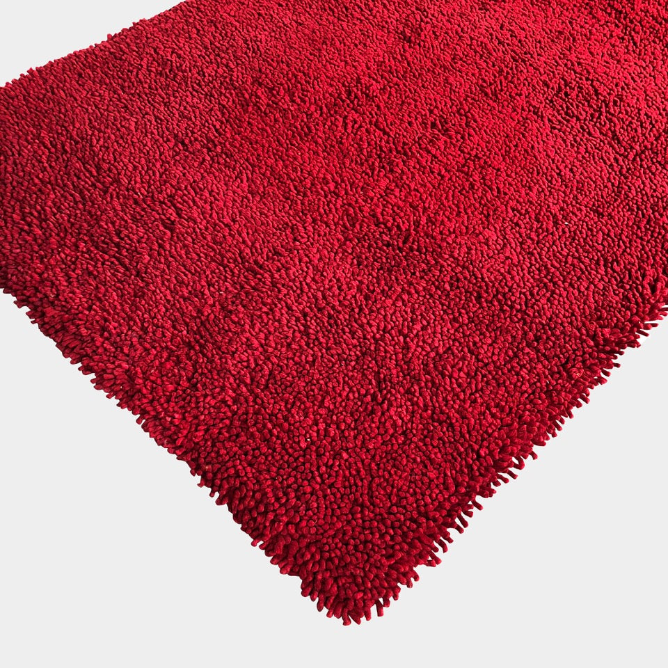 Toulemonde Bochart Red Felt/Shag Rug