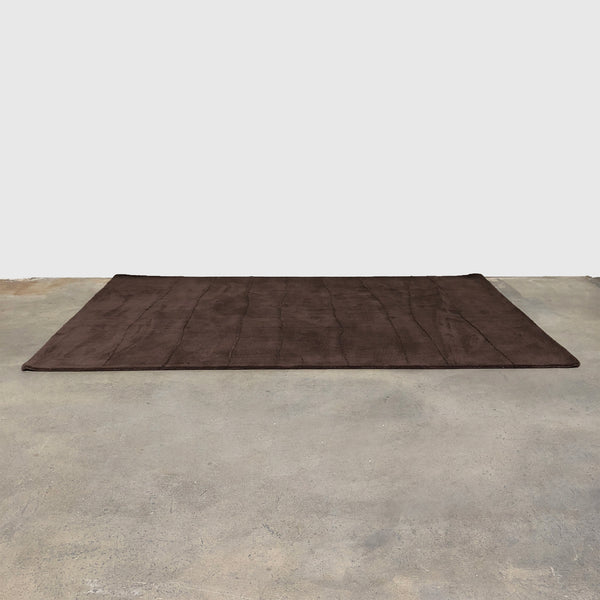 "Toulemonde Bouchart Dark Brown Hand Tufted ""Sixties"" Rug"
