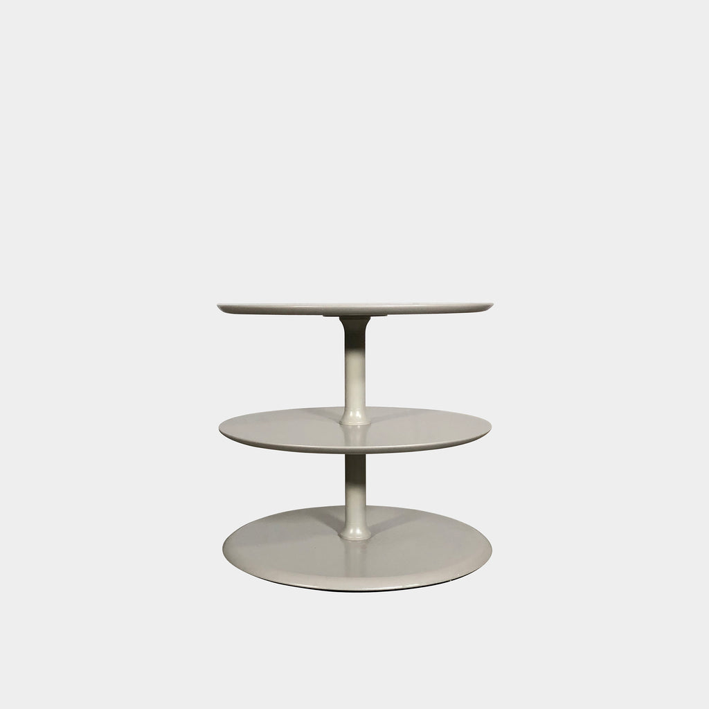 3 Tier Gray Lacquered Side Table