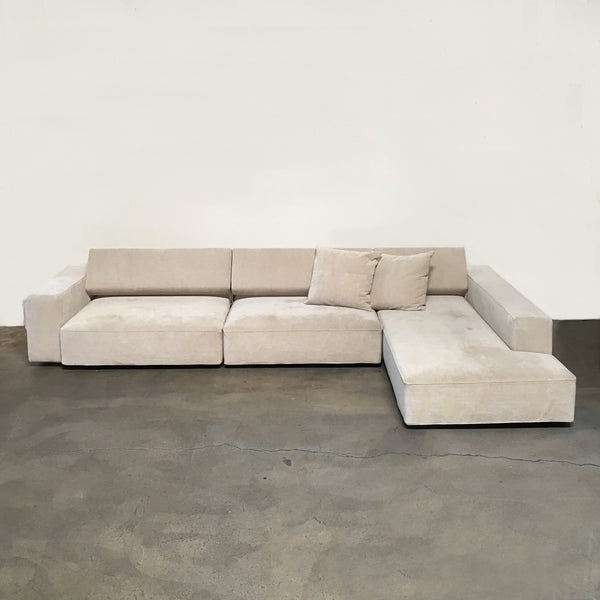 B&B Italia Cream Fabric Andy Sectional by Paolo Piva | Consignment