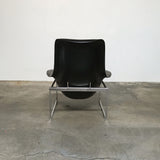 B&B Italia Black Leather Mart Chair by Citterio | LA | Consignment