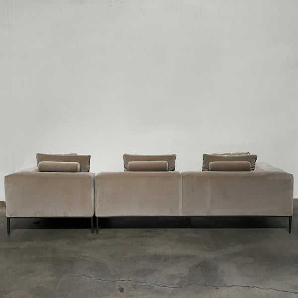 B&B Italia Velvet Michel Effe Sectional | Los Angeles | Consignment