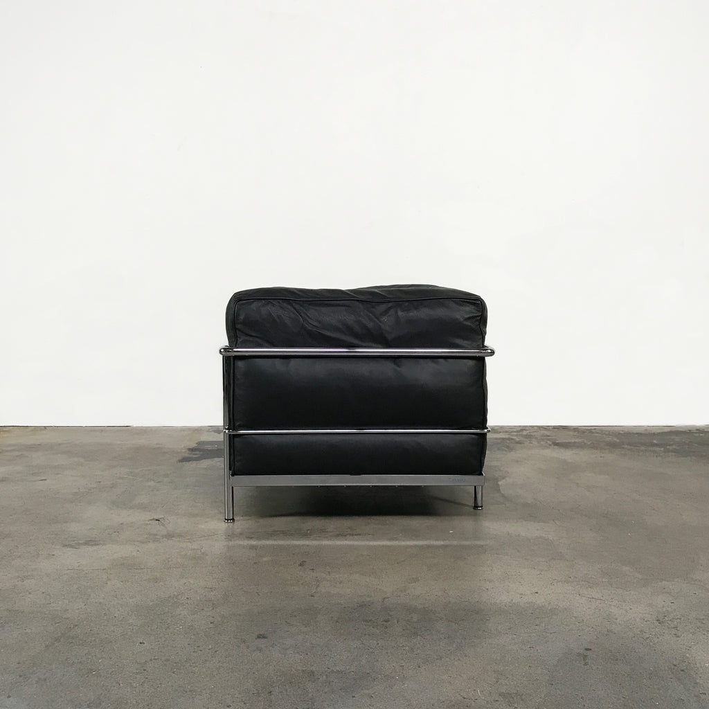 Cassina Black Leather LC3 Lounge Chair by Charlotte Perriand
