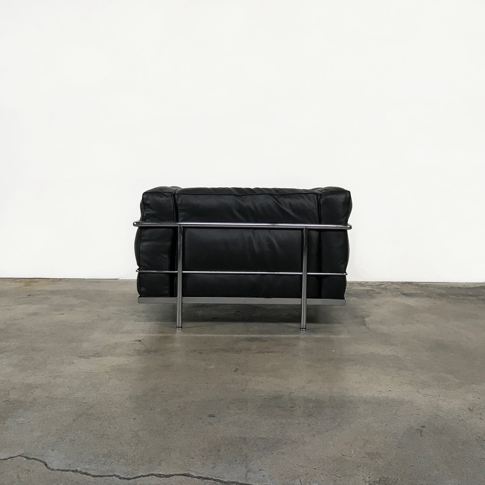 ... Cassina Black Leather LC3 Lounge Chair By Charlotte Perriand ...