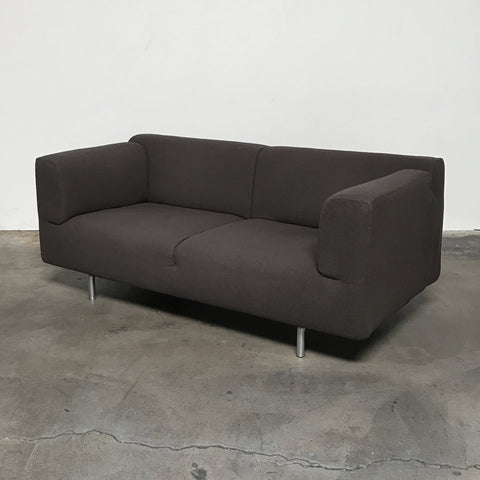 Cassina Brown Felt Met Sofa by Piero Lissoni | LA | Consignment
