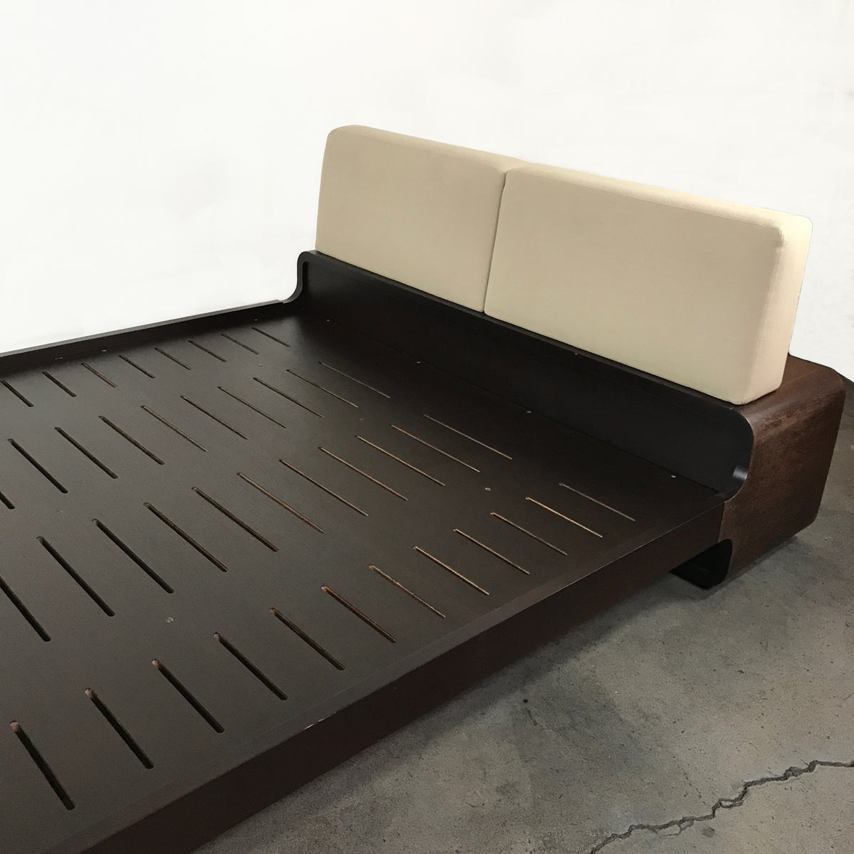 Emmemobili Dark Wood Coiba Bed by Ballabio-Elli Euro Queen