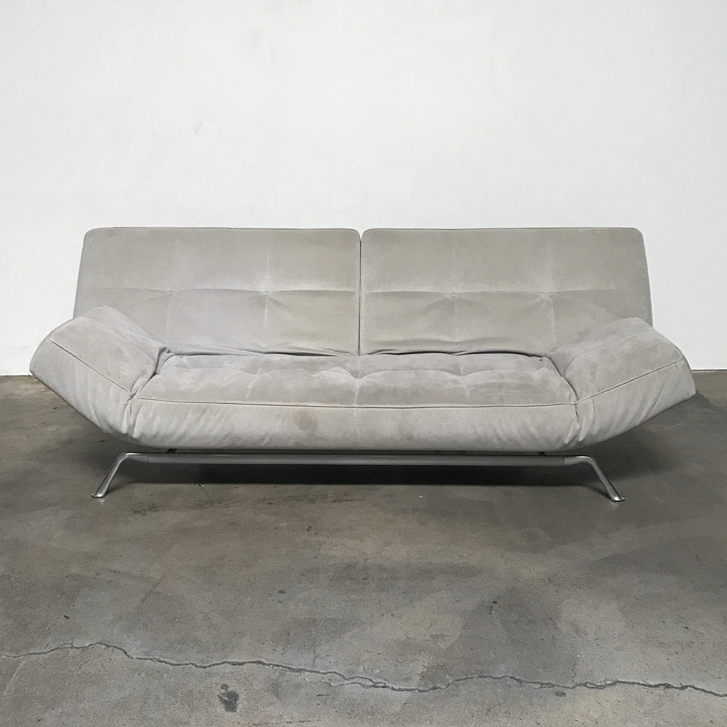 ligne roset taupe suede smala sofa los angeles consignment modern resale. Black Bedroom Furniture Sets. Home Design Ideas