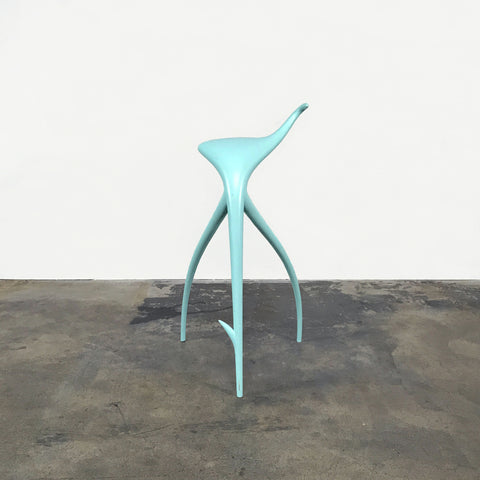 Philippe Starck W.W. Stool Blue painted (rare, collector's item)